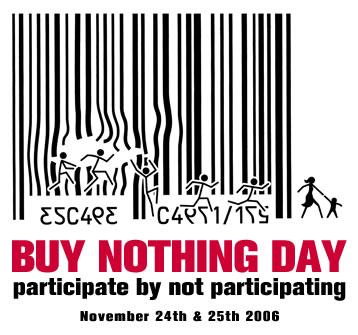 Anonymous + buy nothing day ca...