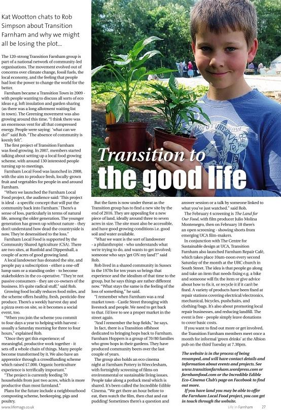 Transition to the Good Life